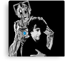Neil and the Cyberman Canvas Print