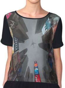 Time Square Winter Lookup Chiffon Top