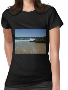 Surfing Currumbin Alley Womens Fitted T-Shirt