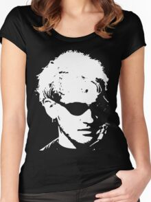 Layne Staley silhouette Women's Fitted Scoop T-Shirt