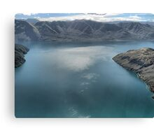 Helicopter High ( 12 )  Glistening on Wanaka Blue. Canvas Print
