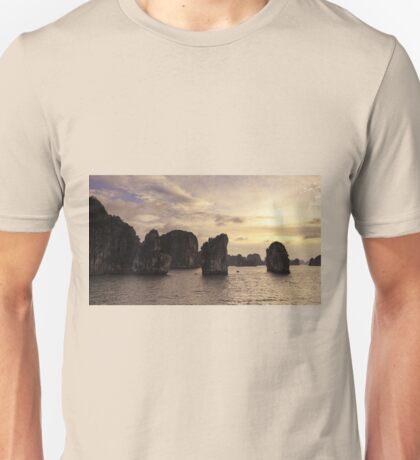 Sunset in Ha Long Bay, Vietnam Unisex T-Shirt