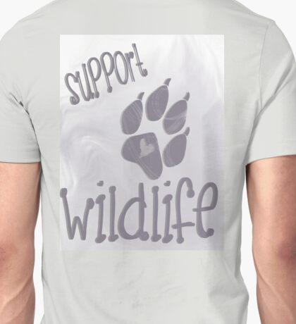 Support Wildlife - Grey Unisex T-Shirt
