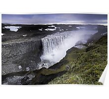 Waterfall: Dawn at Dettifoss, Iceland Poster