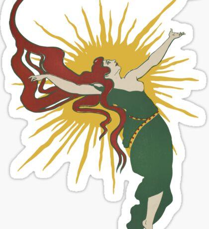 Redheaded Sun Spirit Sticker