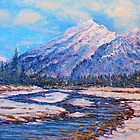 Majestic Peak - impressionism by jyruff