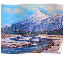 Majestic Peak - impressionism Poster