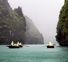 Rain & Rowboats: Life in Halong Bay, Vietnam  by thewaxmuseum