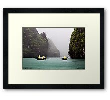 Rain & Rowboats: Life in Halong Bay, Vietnam  Framed Print