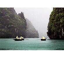 Rain & Rowboats: Life in Halong Bay, Vietnam  Photographic Print
