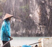 Rain & Rowboat: Life in Halong Bay, Vietnam  Sticker