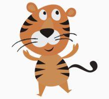 Cartoon Tiger Baby Tee