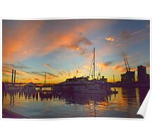 Watery sunset Poster