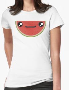 Smiling Watermelon Womens Fitted T-Shirt