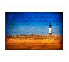Memories of Tybee Light - Georgia Art Print