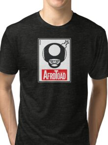 AfroToad RED Tri-blend T-Shirt