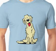 Cartoon golden retriever dog Unisex T-Shirt