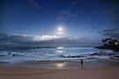 Full Moon Over Waimea Bay 2 by Alex Preiss
