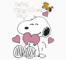 Happy Valentines Day Snoopy One Piece - Long Sleeve