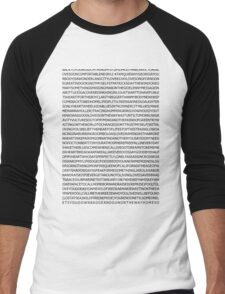 john mayer's discography Men's Baseball ¾ T-Shirt