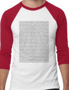 john mayer's discography Men's Baseball ¾ T-Shirt