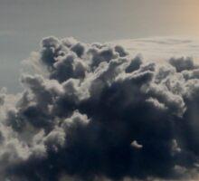 cloud above ocean Sticker