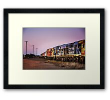 Working Trains Framed Print
