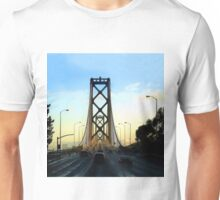 After a Cold Winter Rain on the San Francisco Oakland Bay Bridge Unisex T-Shirt