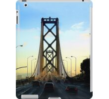 After a Cold Winter Rain on the San Francisco Oakland Bay Bridge iPad Case/Skin