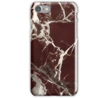Polished Red marble art deco phone case iPhone Case/Skin