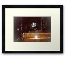Interior, the Church of St. Andrew, Greensted-juxta-Ongar Framed Print
