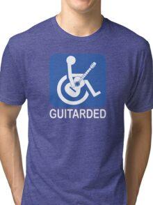 Guitarded Funny Joke Guitar Shirt Tri-blend T-Shirt