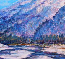 Majestic Peak - impressionism Sticker