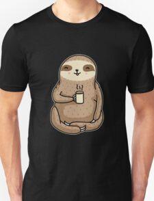 Coffee Sloth Unisex T-Shirt