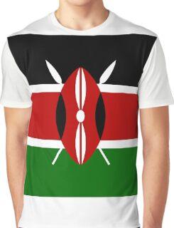 Kenya Flag Graphic T-Shirt