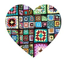 Quilt Heart Photographic Print