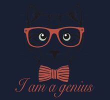 I'am a genius - Meow Edition. Kids Tee