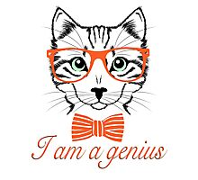 I'am a genius - Meow Edition. Photographic Print
