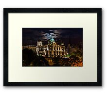 The moon at the Mound. Framed Print