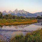Dawn Over the Tetons by Harry Oldmeadow