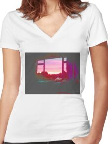 window to the otherside Women's Fitted V-Neck T-Shirt