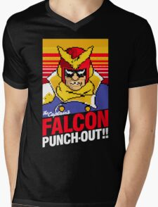Falcon Punch Out - Captain Falcon Mens V-Neck T-Shirt