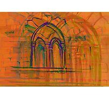 Watercolor sketch with classical window. Photographic Print