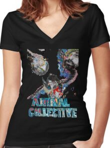 Animal Collective Women's Fitted V-Neck T-Shirt
