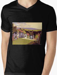 Gold Hill Mens V-Neck T-Shirt