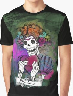 Day of the dead sugar skull Love Graphic T-Shirt