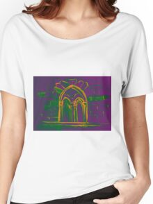 Watercolor sketch with classical window. Women's Relaxed Fit T-Shirt
