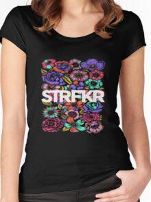STRFKR flowers Women's Fitted Scoop T-Shirt