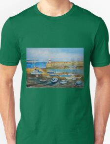 Evening at Port St Mary Harbour, Isle of Man Unisex T-Shirt