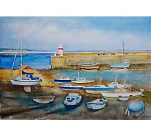 Evening at Port St Mary Harbour, Isle of Man Photographic Print